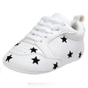 Saingace 1 Pair Baby Embroidery Five-pointed Star Lace-up Soft Sole Shoes Toddler Sneakers First Walking Shoes For Boys Girls