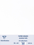 Clairefontaine Drawing Sketch Paper, 50x65cm, 160g (25 Sheets) - White