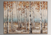 Forest Handmade abstract painting mounted on aesthetic frame
