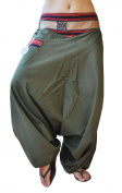 virblatt UNISEX harem pants with traditional weavings and comfortable elastic waistband S - L alternative clothing- Naga - Feierabend