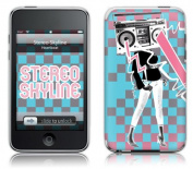 MusicSkins Stereo Skyline - Boom Box Lady for Apple iPod touch