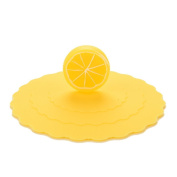 meyfdsyf Kitchen Tools Silicone Leak Proof Coffee Mug Suction Cup Cover Cap (Yellow)