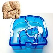 Elephant Shaped Sandwich Cutter Cookie Biscuit Cutter - Blue