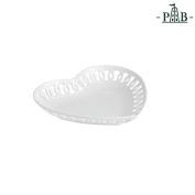 "la Porcellana ""Firenze"" Heart Carved Plate Gift Box, White, 21 cm"