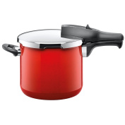 Silit Sicomatic Classic Pressure Cooker without Insert, Red, 22 cm, 6.5 Litre