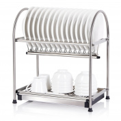 Lifewit 2-Tier 18/10 Stainless Steel Dish Rack Draining Storage Rack