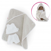 "Corolle DMV11 30cm ""Bb"" Hooded Bath Towel with Underwear"