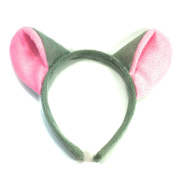 Grey Pink Mouse Ears Aliceband Fancy Dress Hair Accessories World Book Day