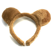 Teddy Bear Ears Brown Furry Aliceband Fancy Dress Hair Accessories World Book Day