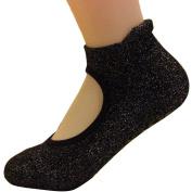 TiaoBug Girls Women Grip Non-slip Ankle Socks for Ballet Yoga Pilates 1 Pair
