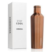Corkcicle Triple Insulated Water Bottle and Thermos, 470ml, Brushed Copper