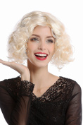 WIG ME UP ® - 90661-ZA88 Wig Lady Women Halloween Carnival 20s 30s Hollywood Diva short curly straightened middle-parting bright blond