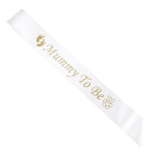 Supply EU Mummy To Be Sash Satin Baby Shower Party Favour White