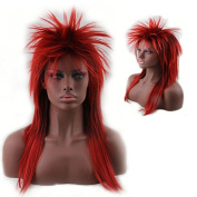 Women's 80's to the Maxx Spiky Rocker Wig Rock Star Red Spiked Wig