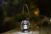 Winsome House WXE0053 Hanging Hurricane Lantern with Candle Solar Light