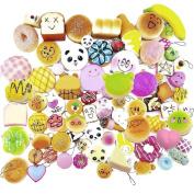 12 Pcs Kawaii Mini Soft Squishy Foods