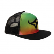 Deep Ocean Rasta Mesh Back Hat