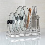 Stainless Steel Pot Cover Frame Chopping Board Drain Rack Storage Rack Rack Knife Chopsticks Cage Kitchen Supplies