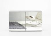 Wimex German Mirror White Chest 6 Drawer Wide Mirrored