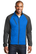 Port Authority J787 Mens Hybrid Soft Shell Jacket Skydiver Blue & Grey Steel - Extra Small