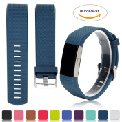 Fitbit Charge 2 Accessory Watch Band - iFeeker Classic Replacement Soft Silicone Adjustable Replacement Sport Bracelet Strap Smart Watchband for Fitbit Charge 2 Heart Rate and Fitness Wrist Band