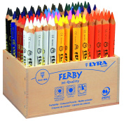 Lyra Ferby Natural in Cardboard Case Varnished 96 Farbstifte various
