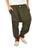 Comfortable harem pants for men and aladdin pants in ethno fashion alternative clothing from virblatt M - XL - Freudentanz brown