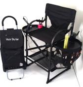 # MU2R Tuscany PRO Hairstylist Chair Unique Italian Design- .   w/ Bonus Storage Cart---60cm Seat Height
