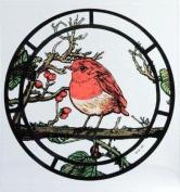 Static Window Clings in a Fat Robin Design.