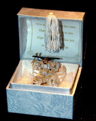 Cellini Gifts Glass Elephant Graduation memento Gift, Well Done on this Special Day Keepsake to Treasure Forever!