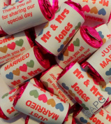 10 X Wedding Favours ~ Love Hearts and Personalised Sweet Wrappers ~ Party Gifts