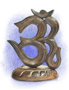 Decorative object: Stand relief Om symbol (H