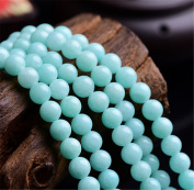 Mimeier 4-14mm Amazonite Round Beads Strands, Light Sky Blue (004YS)