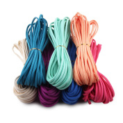 Candygirl Micro-Fibre Flat Leather Lace Beading Thread Faux Suede Cord String Velet
