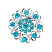 1Pc Fashion Rhinestone Pins and Brooches for Women Flower Jewellery-Available In Red, White, Pink,Dark Blue, Lighe Blue, Green