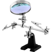 MaxLLTo Helping Hand Magnifier Magnifying Glass Jewellery Clamp Holder Stand