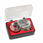 GOOTRADES 10X 21mm Metal Magnifier Jewellers Loupe Magnifying Glass Silver