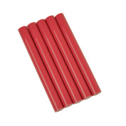 GlueSticksDirect Rubine Red Coloured Glue Sticks 1.1cm X 10cm 5 Sticks