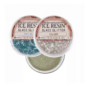 ICE RESIN Inclusions Set - German Silver Iced Enamels, Silver Glass Glitter, Sky Blue Glass Glitter