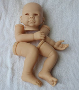 Unpainted Soft Vinyl Reborn Doll Kits Head and 3/4 Limbs For Hand Making Lifelike Newborn Baby DIY Accessories