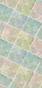 catral 40020028 - Kitchen Mat and Hallway Floor, 50 x 75 cm, Blue, Green and Red