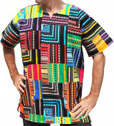 RaanPahMuang Brand Africa Dashiki Quilt Cotton Patchwork - Afrikan Shirt