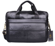 VIDENG POLO Hotest Men's Top Genuine Leather Handmade Briefcase Shoulder Messenger Business Bag