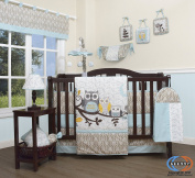 Boutique Baby Enchanted Forest Owls Family 13 Piece Nursery CRIB BEDDING SET