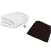 aBaby Porta Crib Mattress Protector and Sheet Combo, Black