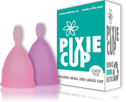 Combo Pack - Ranked 1 for Most Comfortable Menstrual Cups and Better Removal Stem Then The Diva Cup - Includes Period Cup Wipes