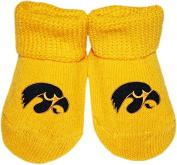 University of Iowa Hawkeyes NCAA Licenced Solid Coloured Newborn Baby Bootie Sock