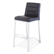 Lynx Counter Height Contemporary Bar Stool with Metal Base - Black