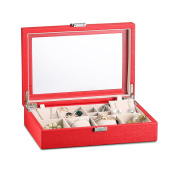 Vlando Exquisite Leather Jewellery box, Fabulous Gift for Girls
