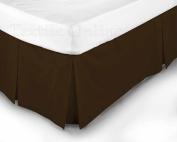 Textile Online Luxury 68 Pick Poly-Cotton Base Valance Sheet Chocolate